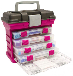 Grab n Go Rack System Creative Options Small Magenta With 4 Small Utility Boxes