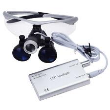 Surgical Dental Medical Binocular Loupe 3.5X + LED Head Light Lamp