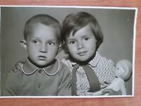 VINTAGE PHOTOS  LOT Of 7 GIRLS w THEIR DOLLS BABY DOLLS  7 PHOTOGRAPHS SOVIET
