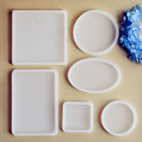Round Square Clear Silicone Mold Polymer Clay Resin Jewelry Making Mould Craft