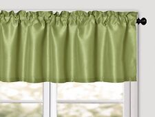 Aiking Home Solid Faux Silk Window Unlined Valance 56''x16'', ( 1-PACK )
