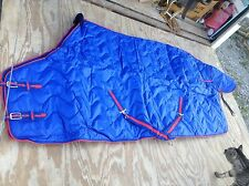 """Jack's  80"""" royal blue winter horse stall blanket quilted 420d nylon"""