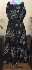 Black Dress, UK size 14,Silver embroidery, Prom/evening dress, Vintage style