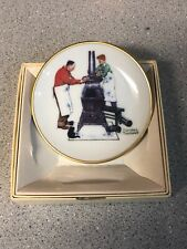 Norman Rockwell Four Seasons Mini Plate - 550, The Coal season's coming