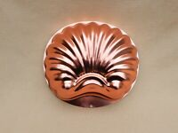 Copper-tone Shell Gelatin/Jello Food Mold or Wall Hanging, 6 cups, vintage