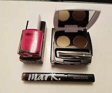 AVON MARK X 3 ITEMS - Plump It Lip Gloss, Perfect Brow + Gel Shine