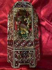 Vintage Ornate Bird and Cage Enameled Sankyo Music Box