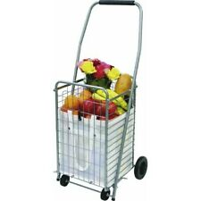 4-Wheel Silver Shopping Cart by Faucet Queens Inc