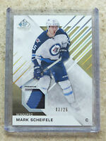 16-17 UD SPGU SP Game Used Premium Gold Patch #84 MARK SCHEIFELE /25