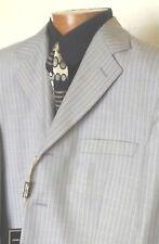 """New Men's suit """"GiorGio Fiorelli Uomo"""" s/b 4 buttons 42R Lt gray/white pinstripe"""