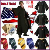 Harry Potter Hogwarts Halloween Robe Cape Cloak Scarf School COS Costumes