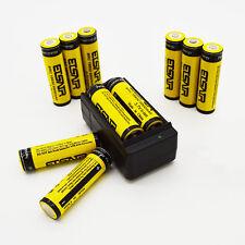 10pcs 9900mAh 18650 Battery Rechargeable Li-ion Batteries + USA Smart Charger