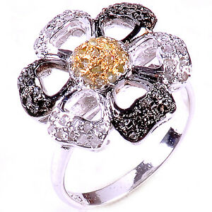 1.56 Ct Raw White Natural Diamond 925 Sterling Silver Engagement Ring Size 7.5
