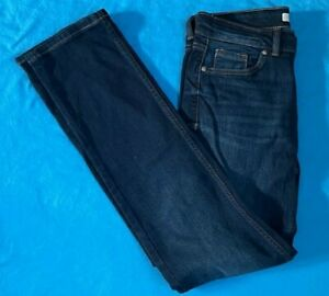 Ladies M & S Jeans - Straight Fit. Brand New. Blue. FREE P+P. Size 10 x 31