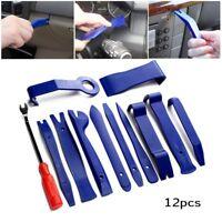 12pc Car Trim Removal Plier Tool Kit Pry Clip Radio Door Panel Fastener Remover