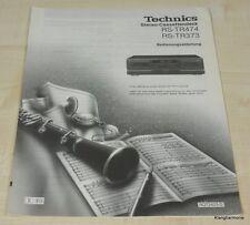TECHNICS rs-tr373/rs-tr474 manuale di istruzioni tedesco