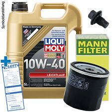 Ölwechsel Set 5 Liter 10W-40 Öl Motoröl LIQUI MOLY + Ölfilter + Ablassschraube