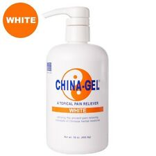 China Gel WHITE 16 oz Pump Topical Pain Reliever for Aches Pains & Arthritis!