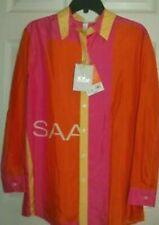 Isaac Mizrahi for Target Colorblock 100 Silk Shirt Size Medium M