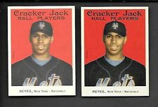 JOSE REYES   2004 CRACKER JACK  MINI SP'S  #1 REGULAR SP & STICKER SP #1   METS