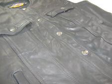 vintage USA womens harley davidson leather vest sleeveless shirt L large black
