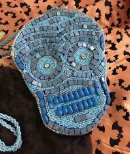 Crossbody-Punk-Day Of The Dead-Beaded Calavera Sugar-Skull-Purse/Hand Bag Mosaic