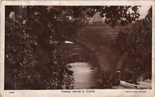 Postcard Rppc Bridge Three Brigs O Doon Uk