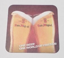 PHILIPPINES Beer Mat Coaster SAN MIGUEL 2012 One Beer One World Friends