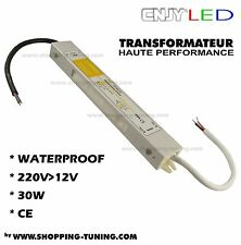 TRANSFORMATEUR CONVERTISSEUR TRANSFO IDEAL BANDE LED 220V>12V 30W 2 5 ETANCHE CE