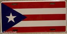 "Aluminum National Flag Puerto Rico ""License Plate"" N"