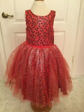 Disney Tutu Costume Red With Black Polka Dots (Minnie Mouse) Dress Size 7 *NWT*