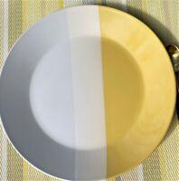 Tri Band Sleek Yellow & Gray Stoneware Dinner, Salad Plates ROOM ESSENTIALS