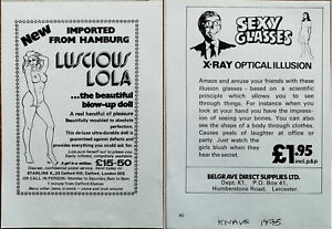 Luscious Lola Beautiful Blow-Up Doll / Sexy Glasses Vintage Advertisement 1975
