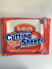 Saran Disposable Cutting Sheets 2 Packages of 26 Sheets Total Discontinued
