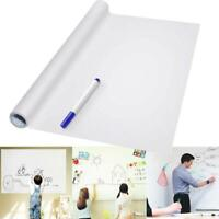 PVC White Board Roll Up Reusable Message Rewritable BoardBest Sticker 45 x 200cm