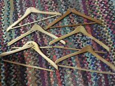 6 Vintage Wooden Coat hangers all different