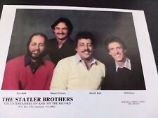 THE STATLER BROTHERS  Original Promo Poster Ad
