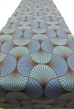 Decorative Table Runner Feather Fern Aqua Blue  150cm x 35cm
