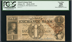 Albany, NY- Albany Exchange Bank $1 May 8, 1846 S5 Spurious Issue