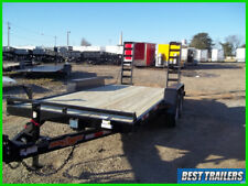 2021 down to earth 7x16 equipmnet 14k New bobcat flated trailer 82 x 16 LED
