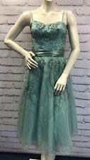 Vestido De Novia Monsoon Hand Beaded Turquesa Con Tiras Bnwt Talla 12 RRP £ 160