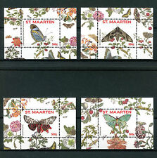 St Maarten 2016 MNH Butterflies Series II 4x 1v S/S 9-12 Vlinders Insects Stamps