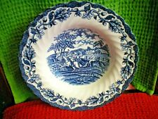 "MYOTTS COUNTRY LIFE STAFFORDSHIRE WARE BLUE & WHITE 9"" BOWL VGC"