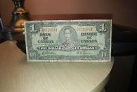 1937 $1 Dollar Bank of Canada Banknote AM8725831