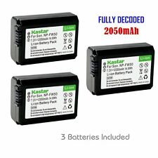 FW50 Battery for Sony Cyber-shot DSC-RX10 NEX-3, 3N, 5, 5N, 5R, 5T, 6, 7, C3, F3