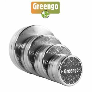 Greengo 2 Parts Grinder 4 Different Sizes Free Protective Case Included