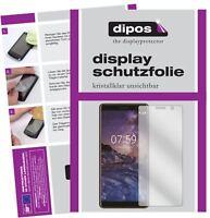 2x Nokia 7 Plus Film de protection d'écran protecteur clair dipos