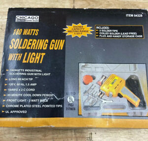 CHICAGO ELECTRIC POWER TOOLS SOLDERING GUN # 04328 with Light