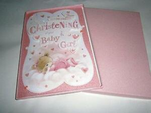 on your christening of your baby girl boxed card