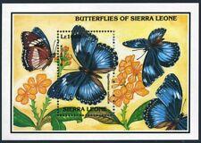 Sierra Leone 1640-1642,MNH.Michel Bl.222-224. Butterflies 1993.Blue diadem,Leaf,